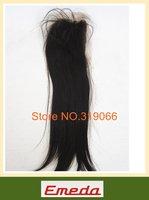 Hot sales 100% human hair styling 8-24 inch brazilian virgin hair straight no shedding  swiss lace closure queen hair closure