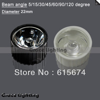 Freeshipping +High Power LED Lens with 200X Led Lens 15/45/60/90/120 Degree For 1w 3w Lamp & white Black Holder