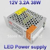 12V 3.2A 38W Switching led Power Supply,100~120V/200~240VAC input 12V DC output for led strips free shipping