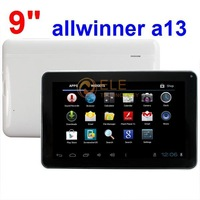 free shipping 9 inch Allwinner A13  512M 8GB Camera WIFI  Multi Touch Capacitive screen tablet pc
