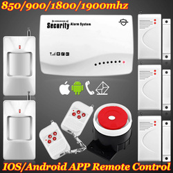 Free shipping! Wireless GSM SMS Home Voice Alarm Security System Remote Control Setting Arm/Disarm 850/900/1800/1900Mhz(China (Mainland))