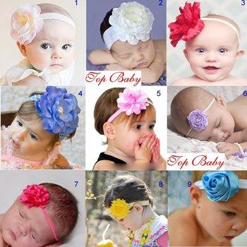 20pcs/lot top baby headband christmas head band kid's hair acessories flower hair band head flower free shipping