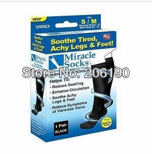 Free shipping 220pcs/lot Miracle socks magice socks Beautiful leg socks Anti Fatigue Compression Socks As Seen On TV(China (Mainland))