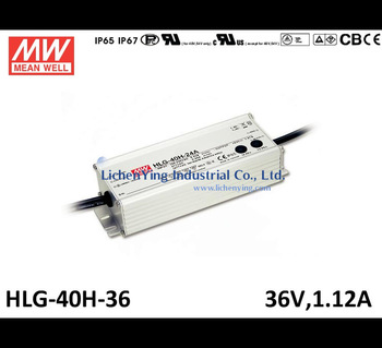 Mean Well 40W 1.12A 36V LED Power Supply PWM 1~10V Dimming function LED Driver HLG-40H-36 CE UL dimmable led circuit drivers