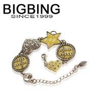 BigBing jewelry Pilgrim full rhinestone heart c13 gentlewomen bracelet Free shipping C-261