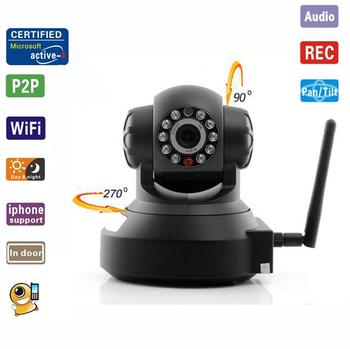 Wireless WiFi Pan Tilt Network IR Night Vision Security Surveillance IP Camera Dual-Way Audio Support  Iphone/ Smartphone View