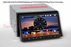 8 inch 2din car dvd gps and dvd player universally 2 din Free shipping(China (Mainland))