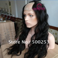 "Sunnymay Custom 130% Density Loose Wave Brazilian Virgin  Human Hair 3""*3"" Full Lace U Shape Wigs"