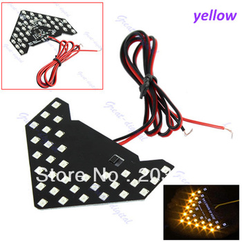2pcs/lot 33 SMD LED Arrow Panels For Car Side Mirror Turn Signal Indicator Light  Sequential flash light  free shipping