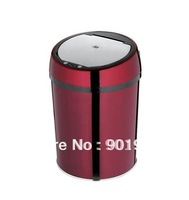 Home bedroom hotel room 9L Wine red-touchless automatic trash can