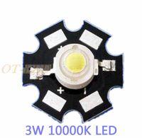 Freeshipping! 10PCS 3W Cool White High Power LED Bead Emitter DC3.6-3.8V 700mA 180-200LM 10000K with 20mm Star Platine Heatsink