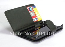 1 x New arrival Pu leather Protector Case Cover w/Card Holder for samsung galaxy SII i9100, galaxy S2 I9100, +free shipping(China (Mainland))