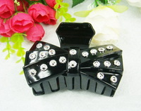 2014Newest Free shipping 12pcs/lot Classic Acrylic Brand Lady Hair Claw Clips