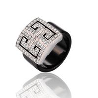 Italina Red Apple Imitation Diamond Platinum Plated Rings