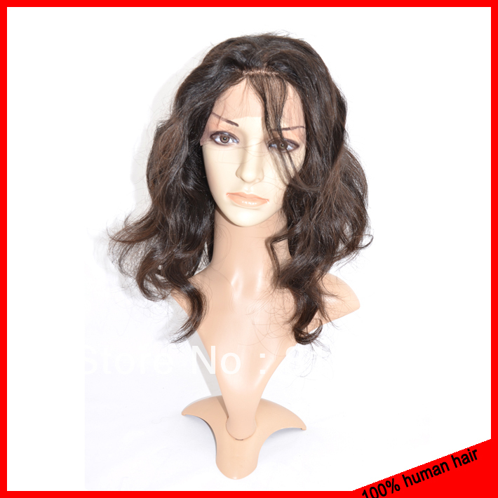 Hot Sale,brazilian virgin hair full human lace wig,100% unprocessed remy hair,adjustable glueless full lace wigs free shipping(China (Mainland))