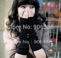 Free Shipping 2014 New Arrivals Women open fingers winter long Gloves Wholesale Korea Style Fashion Women wrist Warmers Mix lots