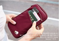 Free shipping Fashion New Travel Passport Credit ID Card Cash Holder Organizer Wallet Purse Case Bag  6 Colors