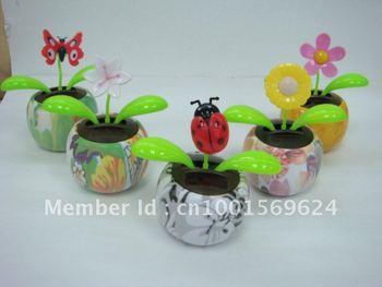 Fast shipping (100pcs/lot) solar flip flap solar dancing flower solar swing flower (water tranfer series)