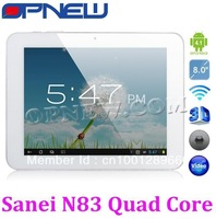 "Hot 8"" Tablet PC Sanei N83 Quad Core with WIFI Dual Camera  HDMI  Metal Silver Case 1024*768P"