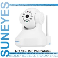 SunEyes SP-TM01EWP ONVIF H.264 720P HD IP Camera Wifi Network CCTV Camera with IR Cut and Support Max 32G Micro SD Card Slot