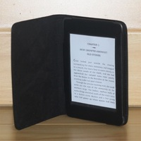 PU leather Case Cover for kindle Paperwhite  folio leather cover Litchi Grain