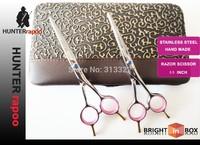 5.5 inch Barber Scissors Beauty Hair Scissors Razor Cutting Scissor Model,Right hand Scissors 440C Blue Diamond Screw with box