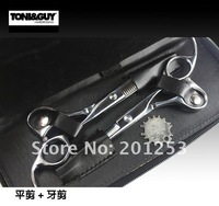 Free shipping 6.0 INCH Shear Cutting and Thinning Scissors,professional hair Scissors for barbers, 1set/lot,Hot sale