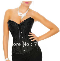 Free Shipping S/M/L/XL Size Sexy Lace Stain Breathable Shaper Wear Sexy Corset Waist Training Corset