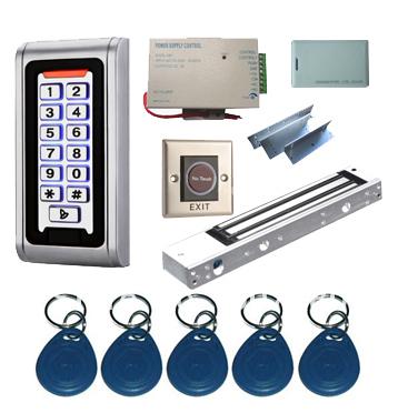 Proximity Card Standalone Access Control Kits/5pcs keyfobs+5pcs cards, Metal Keypad,Magnetic Lock(China (Mainland))