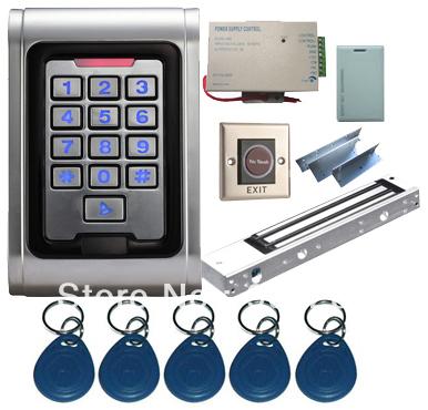 Proximity Card Waterproof Standalone Access Control Kits/5pcs keyfobs+5pcs cards, Waterproof Metal Keypad,Magnetic Lock(China (Mainland))
