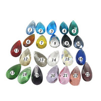 pendant, crystal k9 glass, 23 colors, 28x16.5x9mm top-drilled faceted teardrop,necklace charms. Sold per pkg of 10.