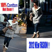 Korea Women Hoodie Casual Hoodie Coat Cotton + Polyester Hooded Sweatshirts Brand Hoody