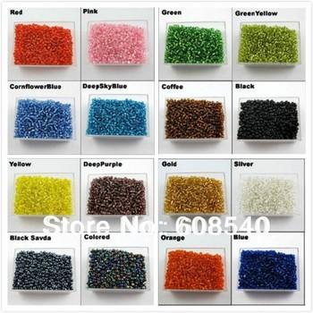 2000pcs ювелирных изделий 2мм чешское стекло Seed шариков прокладки 16colors-1