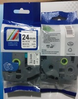 for ptouch label ribbon TZ laminated 24mm black on white label tapes tz 251