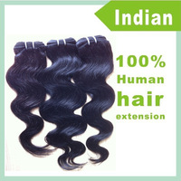 "Whole Sale 3 Bundles Wavy Indian Remy Human Hair Extension Natural Black Body Wave 12""-30"" Free Shipping"