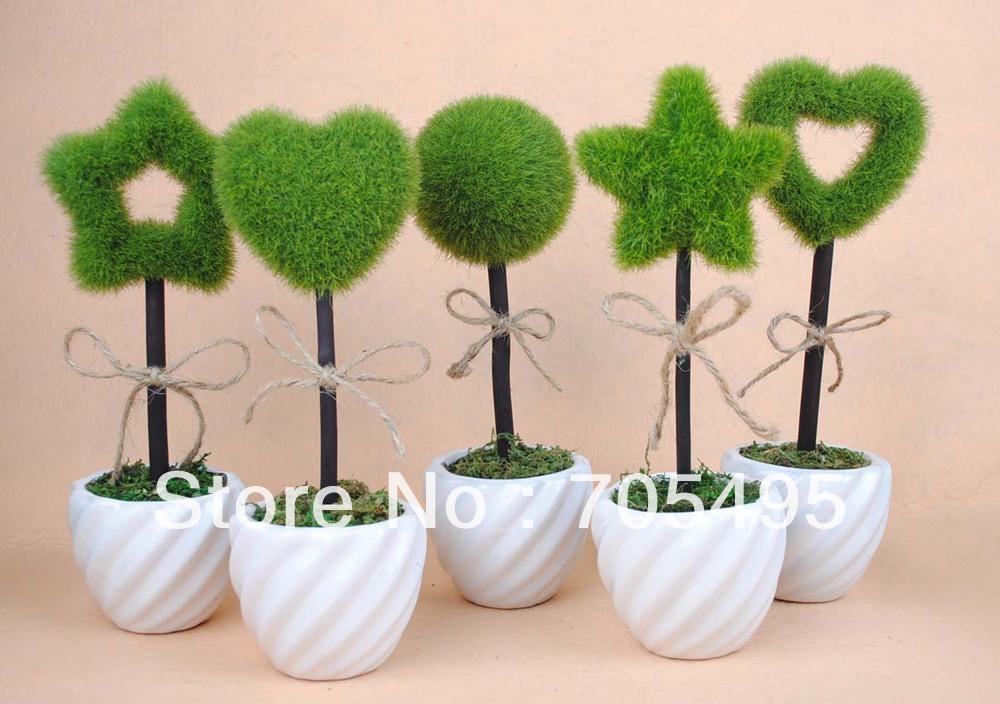Pot Artificial Star Plant Cute Wedding Decoration Plant