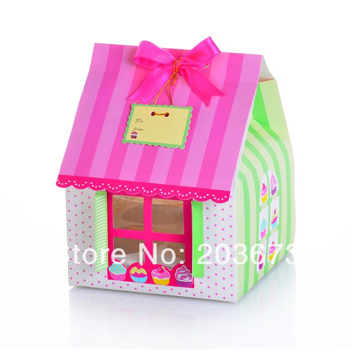 frete grátis atacado e varejo casa bonito caixa de bolo em forma(China (Mainland))