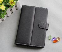 Free shipping,  7 inch tablet case, sleeve case 7. black color, PU materials. with support desin.