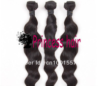 Free Shipping Queen hair 3 or 4 bundles Lot Loose Wave Brazilian Virgin Hair Extensions Wholesale Natural Color Tangle Free