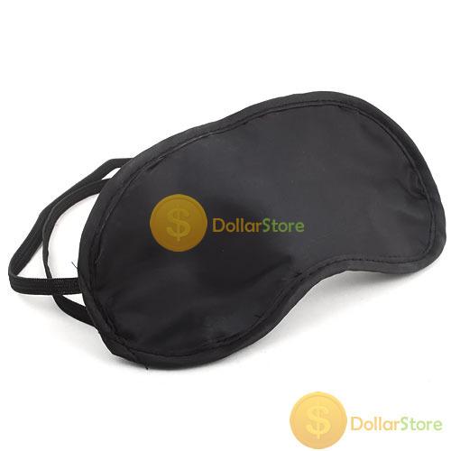 Eye Mask Cover Shade Blindfold Sleeping Travel Black