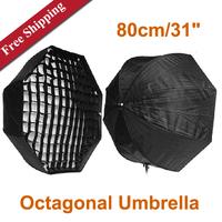 "Photography Studio 80cm/31"" Octagonal  Softbox Umbrella Softbox With Honeycomb  Studio Grill softbox"