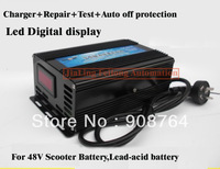 CH222#  Digital LED display Best quality 48V  Variable frequency pulse charger,Scooter battery charger,battery repair instrument