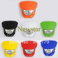 Street Fighter Bike Fairing Motorcycle Universal dirt bike dual Sport headlight black,blue,red,white,yellow,orange,green