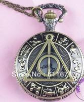 Min.order $10 (mix order) Harry potter Deathly Hallows Pocket Watch Necklace,Zodiac Pocket Watch Necklace,constellation Necklace
