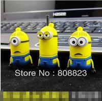 Creative Cartoon Despicable Me Minions 16GB 32GB 64GB USB Flash 2.0 Memory Drive Sticks Pen Disk Rubber