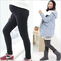 free shipping adjustable thicken warm maternity leggings/super soft pregant woman winter pants/no pilling abdominal trousers