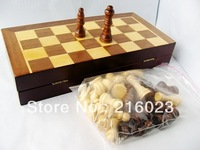 Folding Chess Set Classical Wooden Wood Board Games Family Toys Collection freeshipping