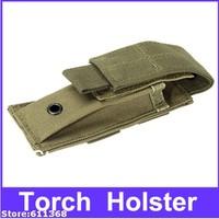 Top quality   Promotion Free Shipping Portable Outdoors Nylon Flashlight Holster folding knife pouch Khaki