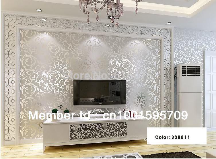 Embossed Black Wallpaper Damask/embossed Wallpaper