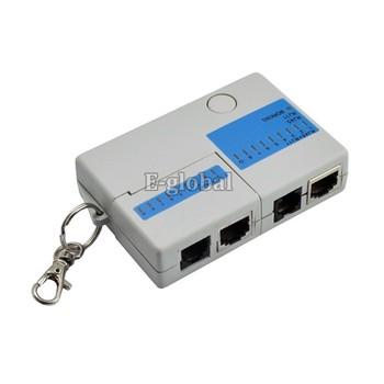 Mini RJ45 RJ11 Cat5 Network LAN Cable Tester Retail & Wholesale Free Shipping 25